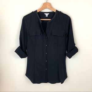 Calvin Klein Black Button Down Blouse